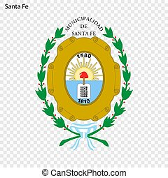 Emblem City of Argentina. Vector illustration