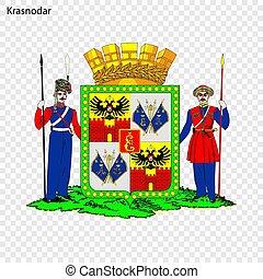 Emblem City . Vector illustration - Emblem of Krasnodar. ...