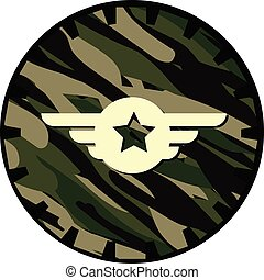 Emblem - Cute Army Man Cartoon Soldier Vector Illustration
