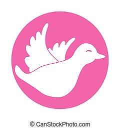 emblem dove icon image design