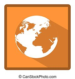 emblem earth planet icon