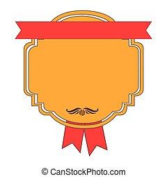 emblem figure with ribbon icon