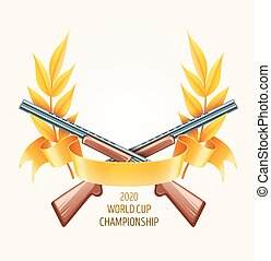 Emblem for hunting or shooting from rifles, championship ...