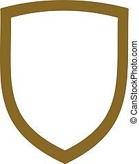 emblem., frame., vazio, escudo