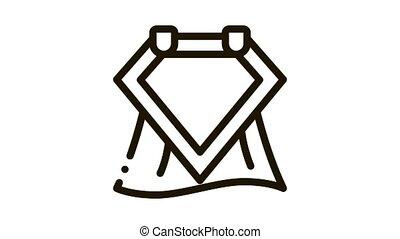 Emblem Hero Symbol Icon Animation. black Emblem Hero Symbol animated icon on white background