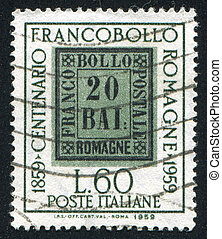 emblem - ITALY - CIRCA 1959: stamp printed by Italy, shows ...