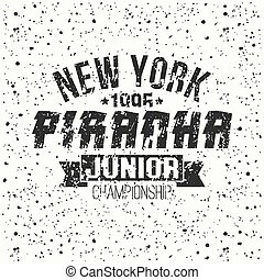 Emblem junior sport team from New York