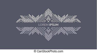 emblem, konst, illustration., affisch, inbjudan, elegant, vektor, design, lyxvara, fodra, template., monogram.