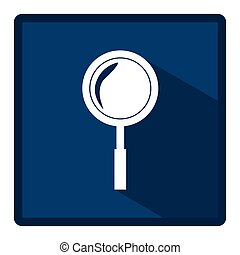 emblem magnifying glass icon