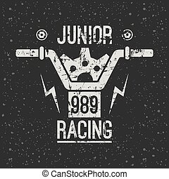 emblem, motorrad- laufen, junior