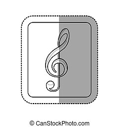 emblem music symbol icon