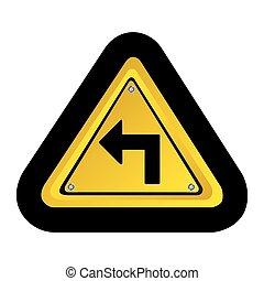 emblem notice with arrow icon
