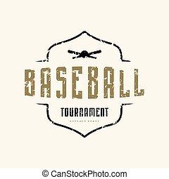 Emblem of baseball tournament