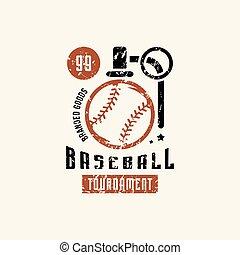 Emblem of campus baseball tournament