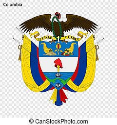 Emblem of Colombia.