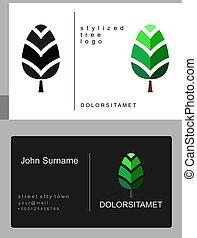 Emblem of green tree
