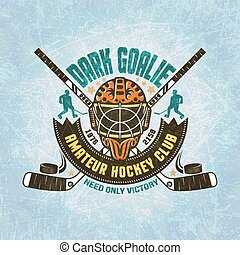 Emblem of hockey team