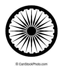Emblem of India, depicted on the flag.