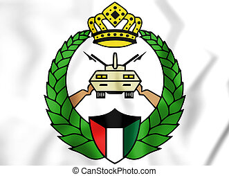 Emblem of Kuwaiti National Guard. 3D Illustration.