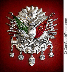 Emblem of Ottoman Empire - Metal Ottoman Empire emblem with...
