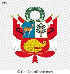 Emblem of Peru.