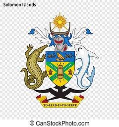 Emblem of Solomon Islands. National Symbol