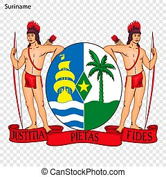 Emblem of Suriname. National Symbol