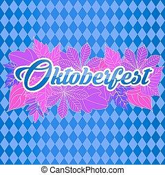 Emblem Oktoberfest festival 2017. Oktoberfest sticker.