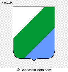 Emblem of Abruzzo, province of Italy. Vector illustration