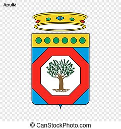 Emblem province of Italy. - Emblem of Apulia, province of...