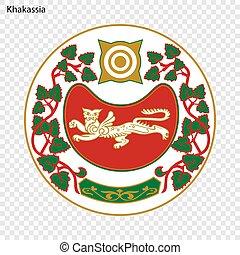 Emblem Province . Vector illustration - Emblem of Khakassia...
