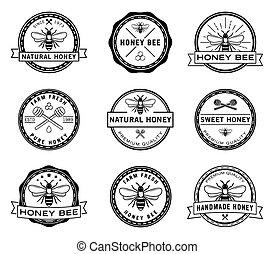 emblem, samling, bi