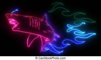 emblem sharks and Fire video design - emblem sharks and Fire...