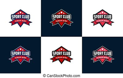 emblem sport logo, set of badge eSport logo design template