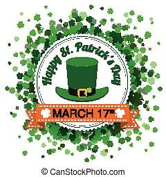 Emblem St Patricks Day Shamrocks