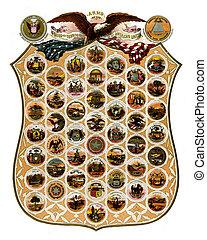 Emblem states of America (1876)