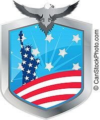 emblem statue of liberty