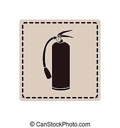 emblem sticker extinguisher icon
