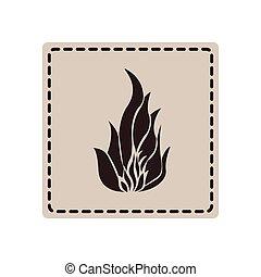 emblem sticker fire icon