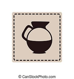 emblem sticker water pitcher icon