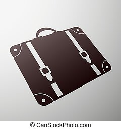 Emblem suitcase. Stock illustration.