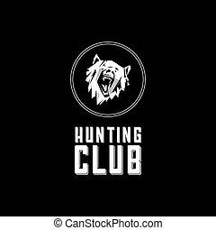 Emblem, symbol, logotype, sign, sticker, poster, bear, dog,...