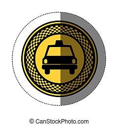 Taxi Cab Vector Logo Icon Car Hire Background App Vector