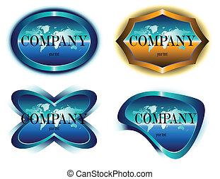 emblem, vektor, koncernen