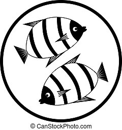 Emblem with fishes.