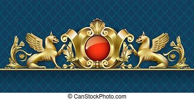 Emblem with golden gryphon 2