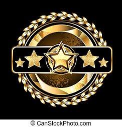 Emblem with golden stars