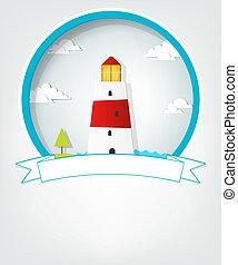 emblem with lighthouse