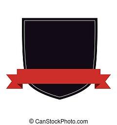 emblem with ribbon icon