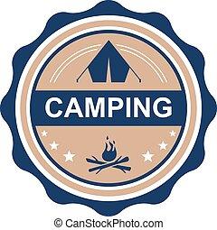 emblema, acampamento